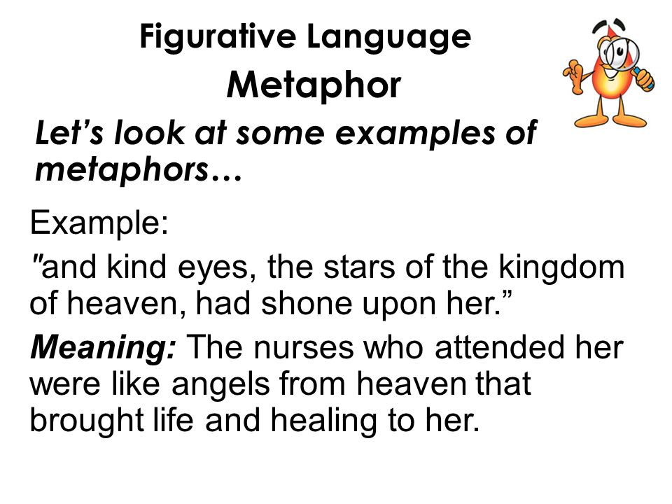 Figurative Language Metaphor In Lesson 32 You Will 1understand