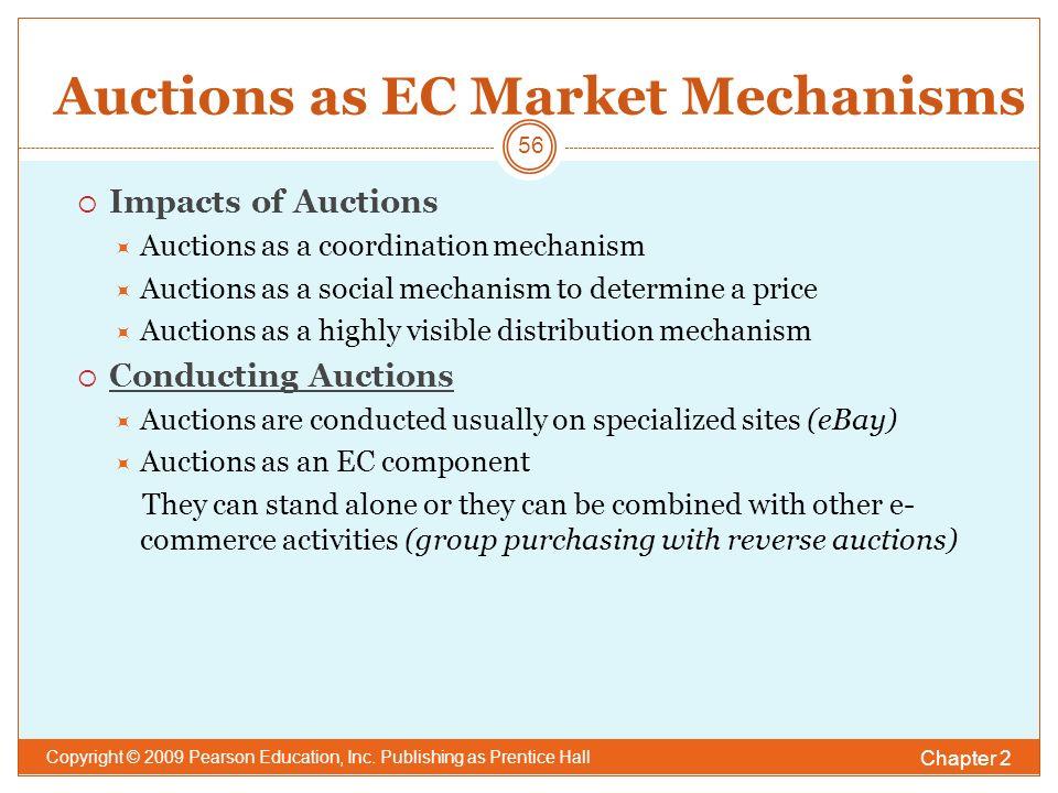Auctions as EC Market Mechanisms Chapter 2 Copyright © 2009 Pearson Education, Inc.