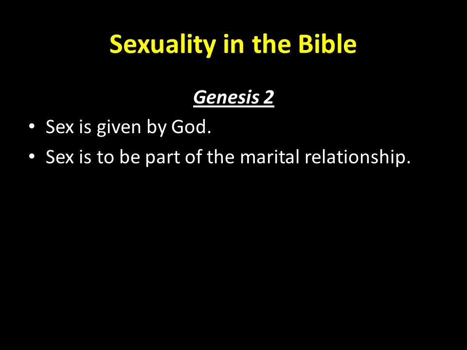 a discussion of sex as a gift given by god The fifth motivational gift in the study of these motivational gifts we must be sure to gift was given according to god's will since it fulfilled an.
