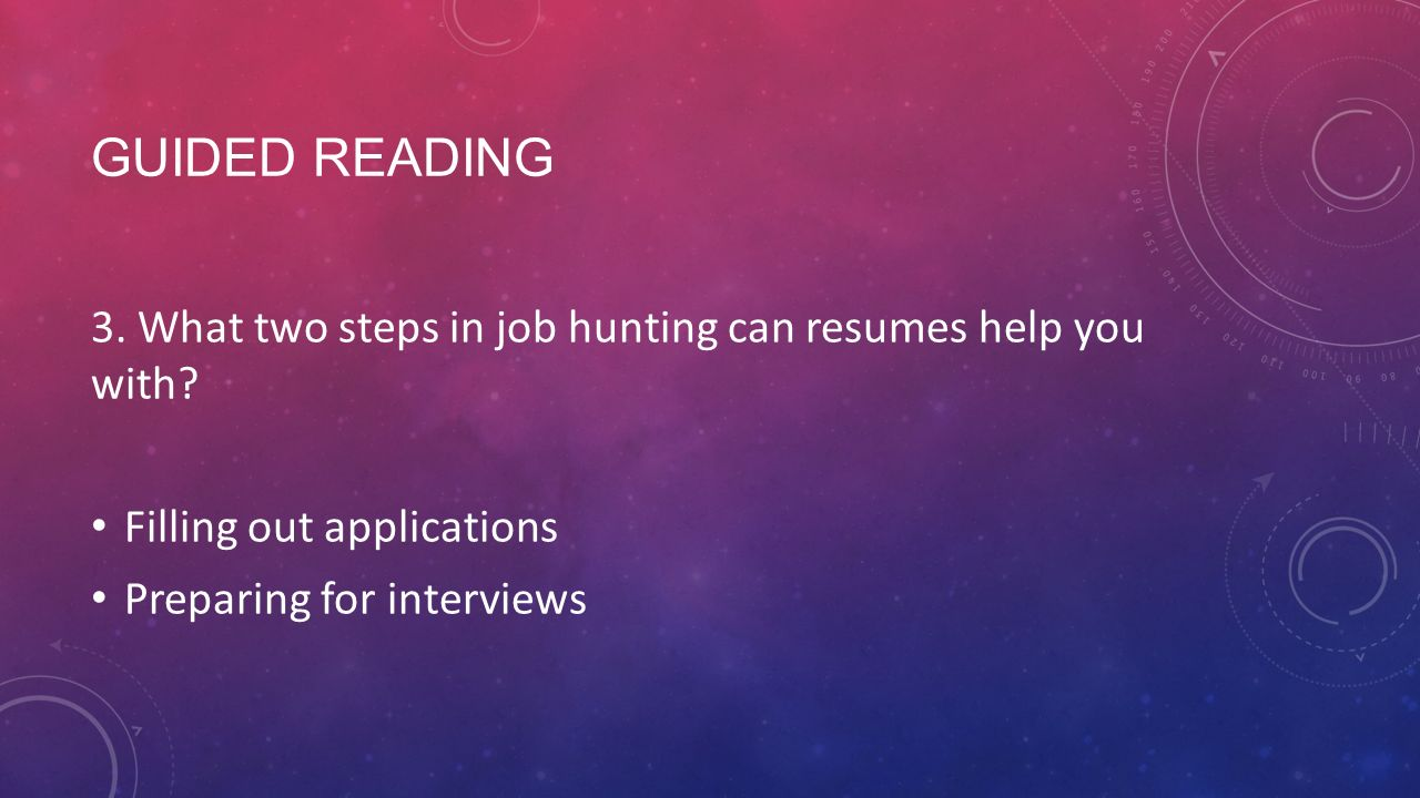 finding a job guided reading what is a resume a written what two steps in job hunting can resumes help you
