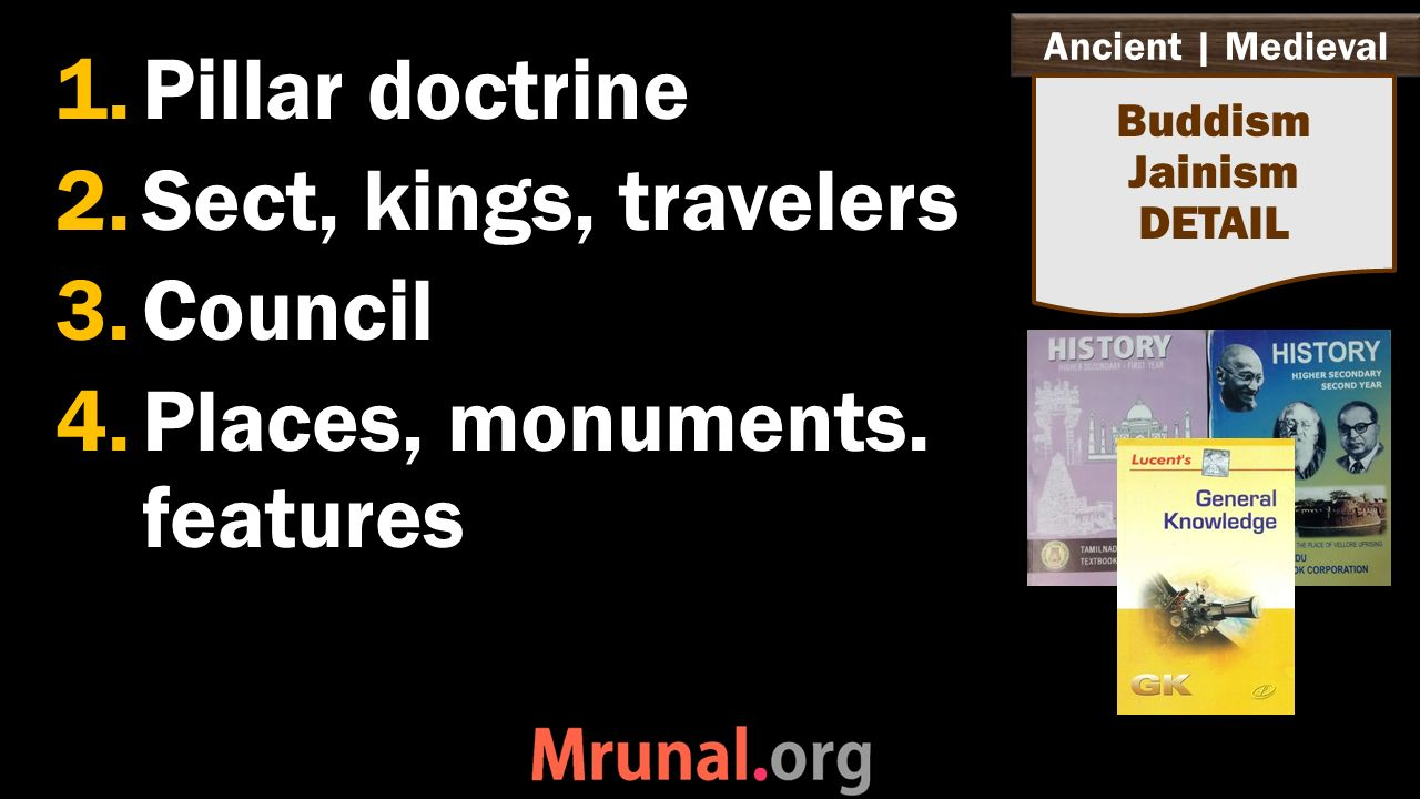 Ancient | Medieval 1.Pillar doctrine 2.Sect, kings, travelers 3.Council 4.Places, monuments.