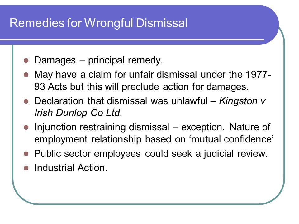 Marvelous Remedies For Wrongful Dismissal Damages U2013 Principal Remedy.