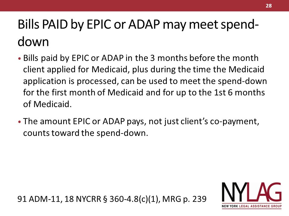Medicaid Spend-Down in New York Evelyn Frank Legal Resources ...