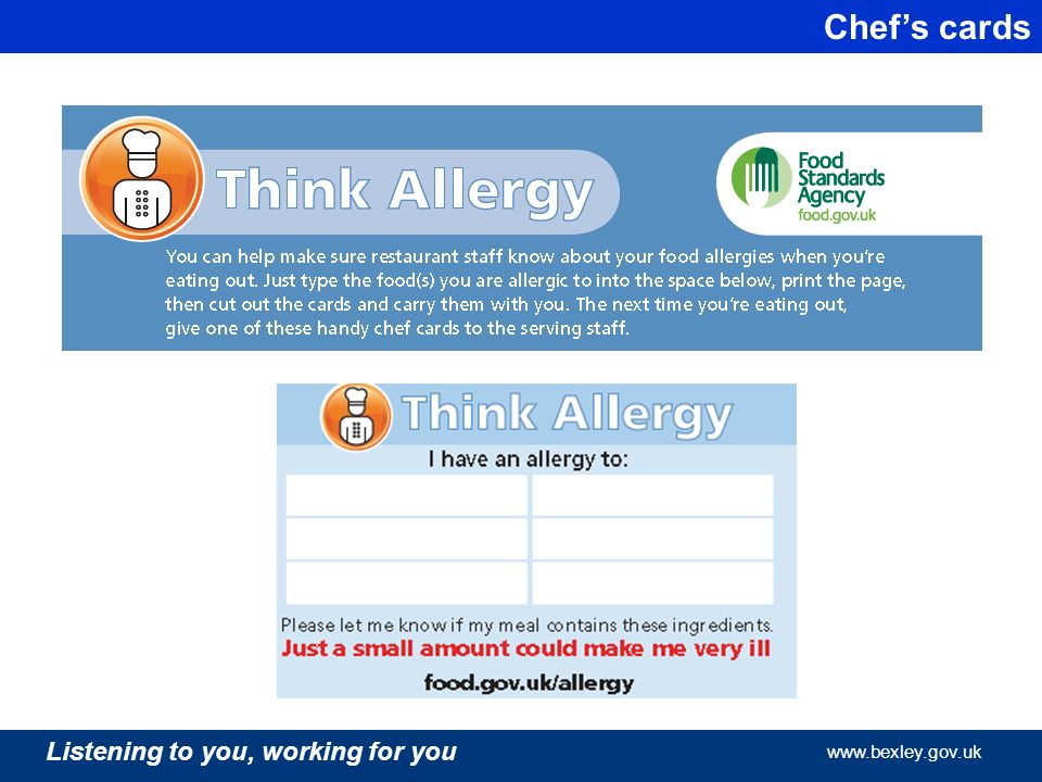 Listening to you working for you what you need to know about food working for you bexley listening to you working for you bexley listening to you working for you bexley chefs cards forumfinder Image collections