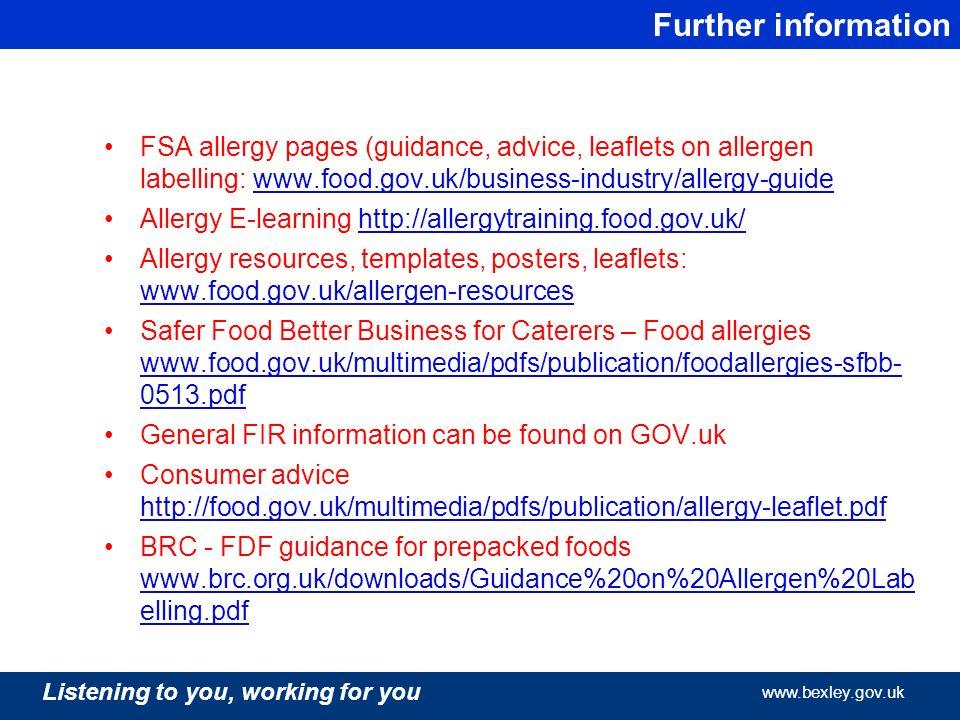 safer food better business