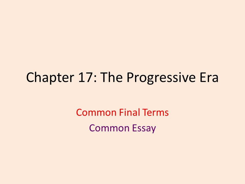 chapter the progressive era common final terms common essay  1 chapter 17 the progressive era common final terms common essay