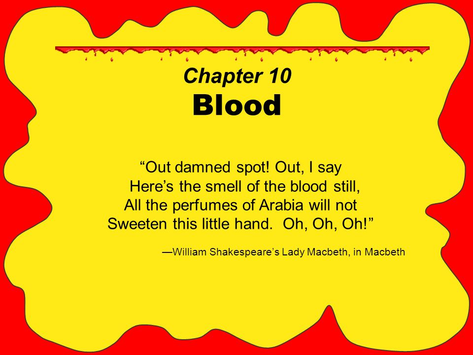 Chapter 10 Blood Out damned spot.