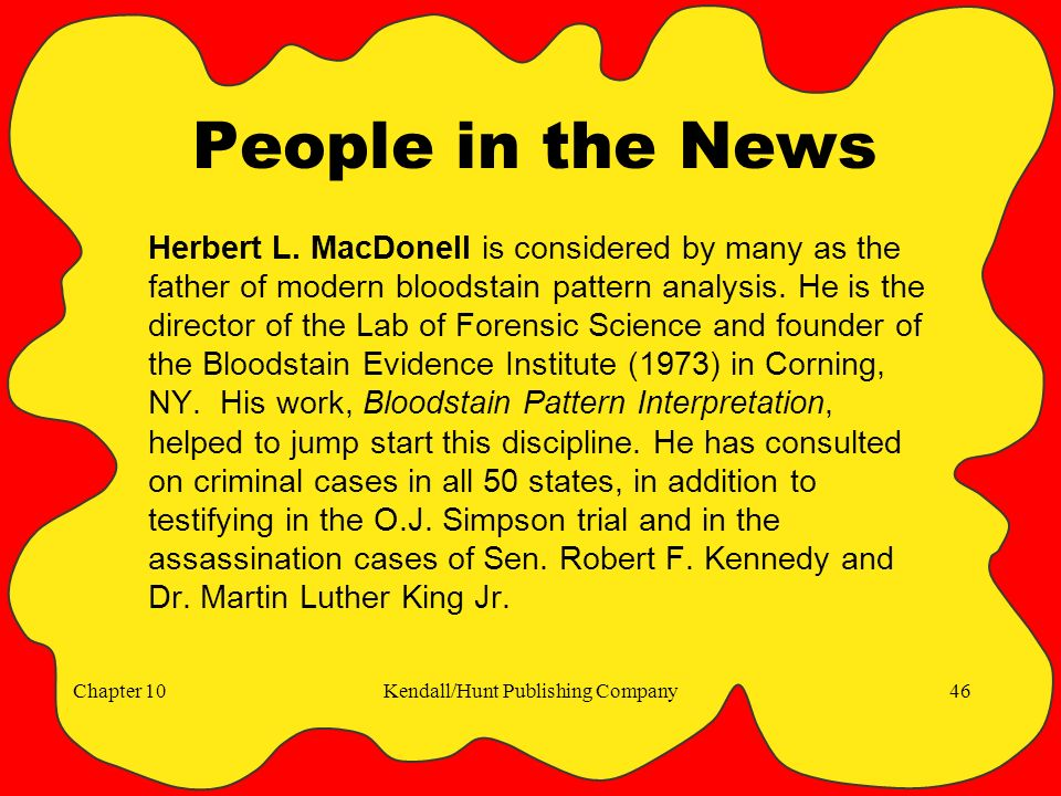 Chapter 10Kendall/Hunt Publishing Company46 People in the News Herbert L.