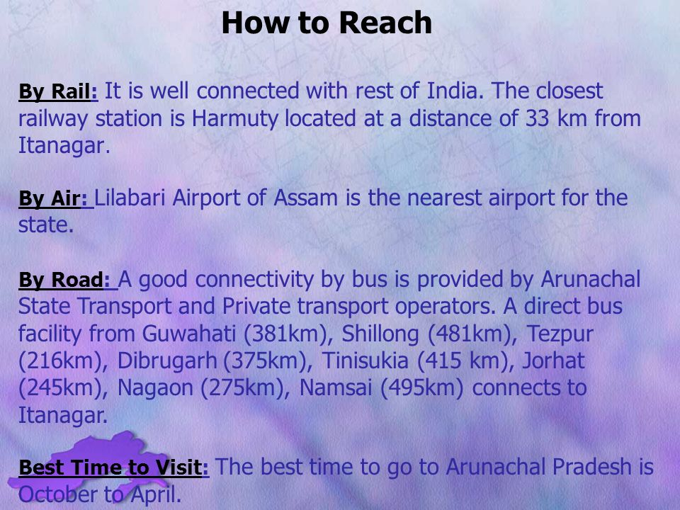 How to Reach By Rail: It is well connected with rest of India.