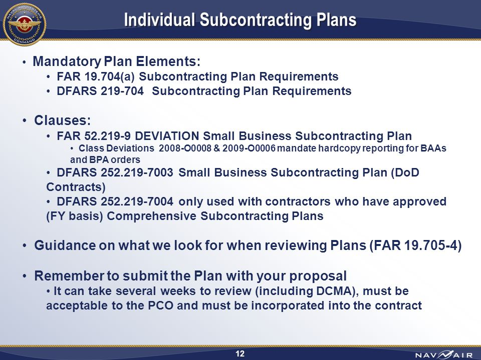 Far 52.219 9 Small Business Subcontracting Plan