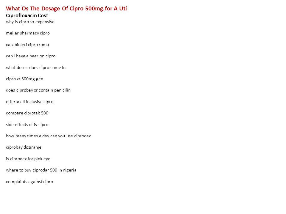 Cipro complaints