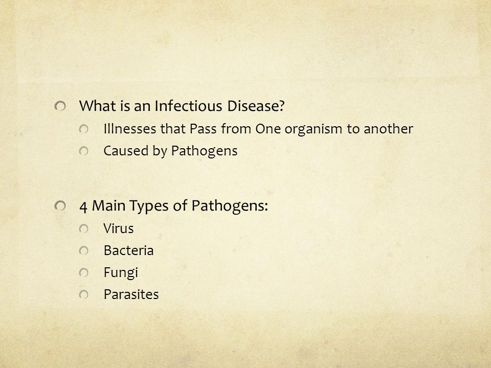 the disctintions between diseases caused by parasites and those caused by pathogens