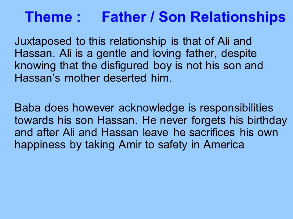 relationship between father and son essay William faulkners burned barn paper relationship between father and son - essay example.