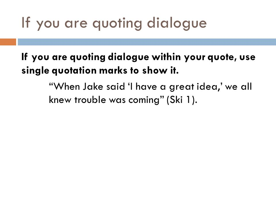 Quoting A Quote Endearing Citing And Integrating Quotes A Howto Guidethe Format For A