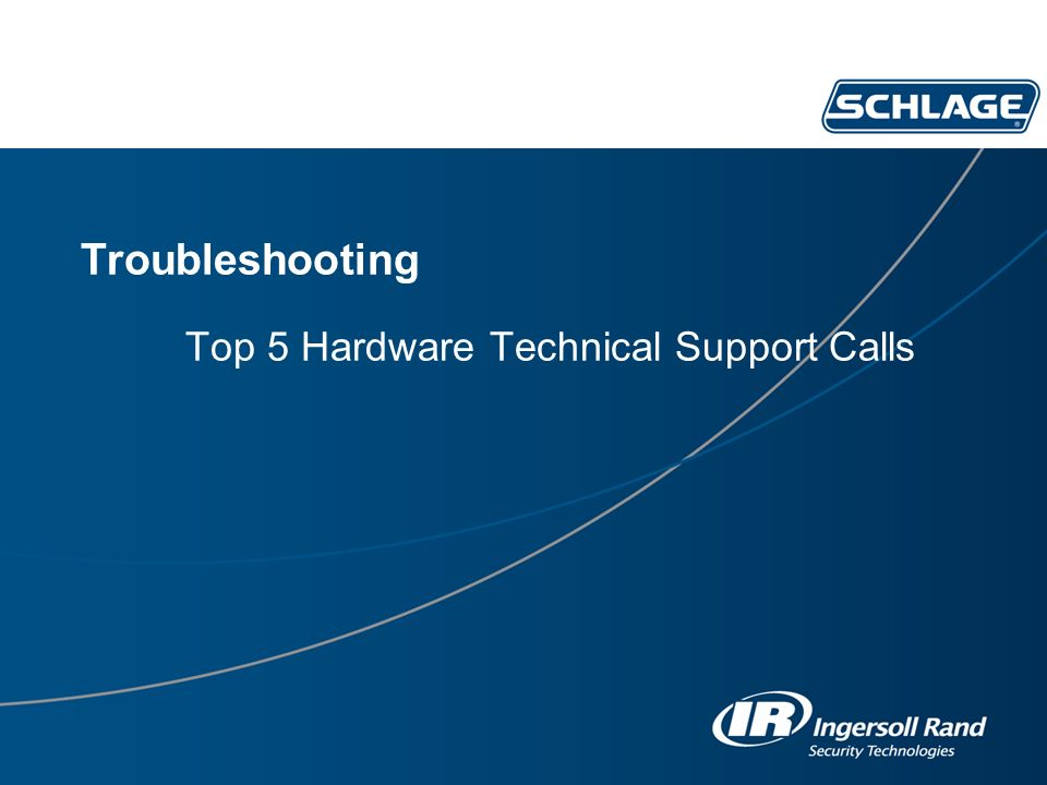 Troubleshooting Top 5 Hardware Technical Support Calls