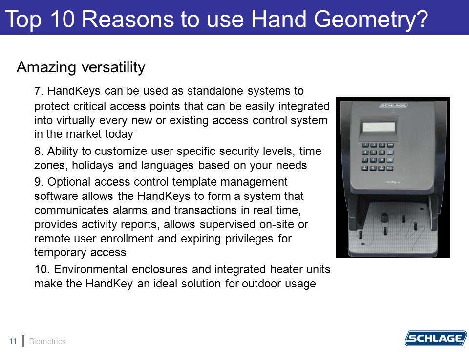 Biometrics11 Amazing versatility 7.