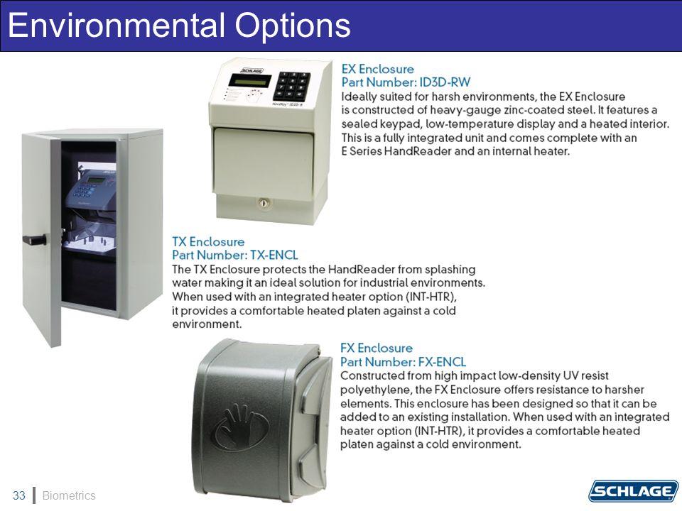 Biometrics33 Environmental Options