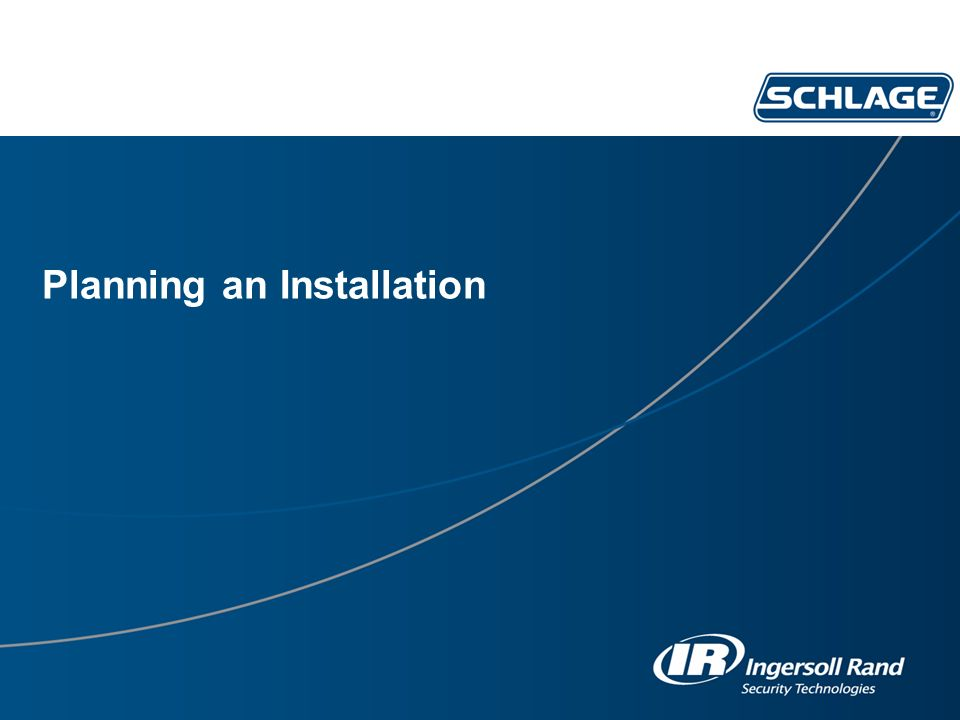 Planning an Installation