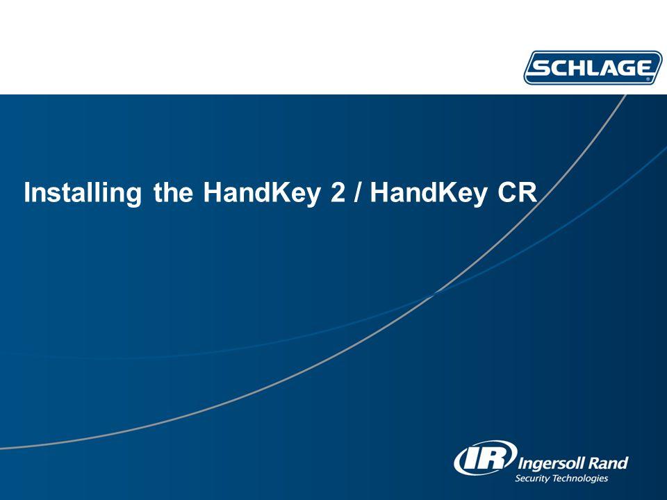 Installing the HandKey 2 / HandKey CR