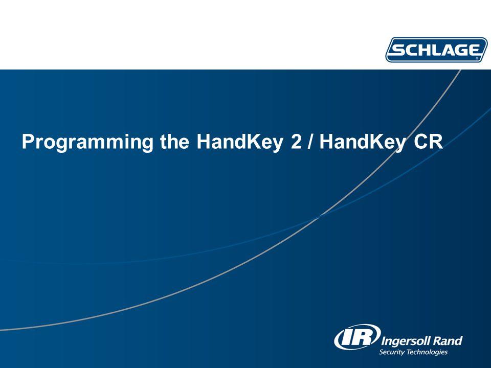 Programming the HandKey 2 / HandKey CR