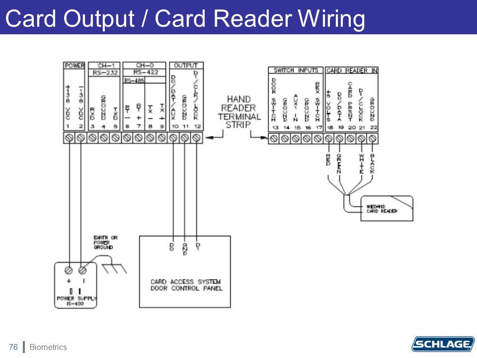 Biometrics76 Card Output / Card Reader Wiring
