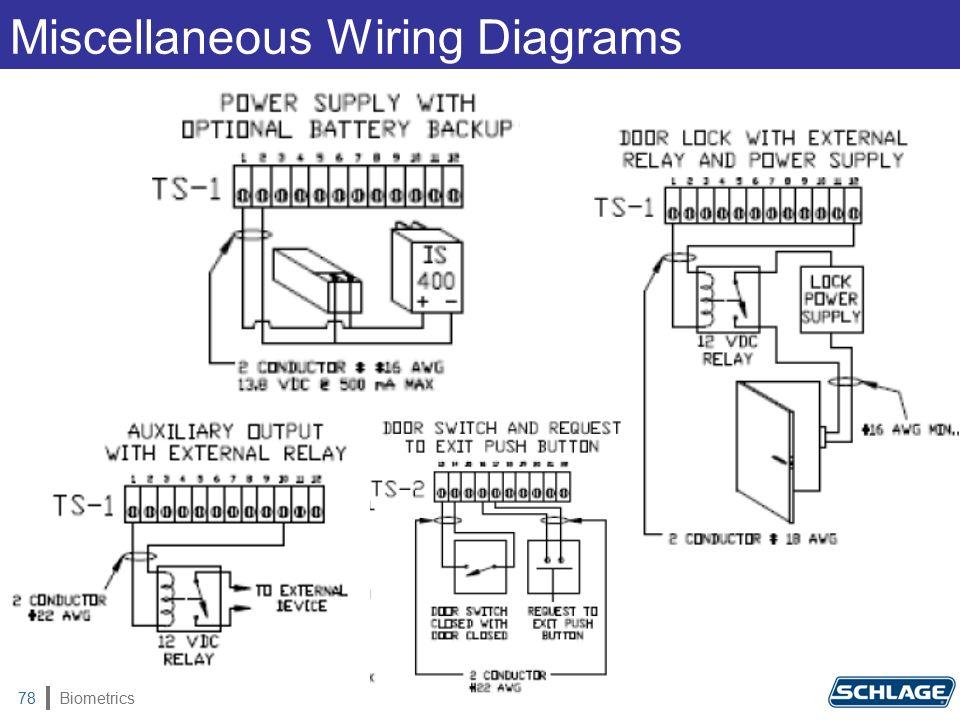 Biometrics78 Miscellaneous Wiring Diagrams