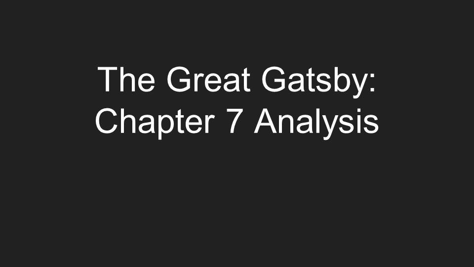 Help on great gatsby?