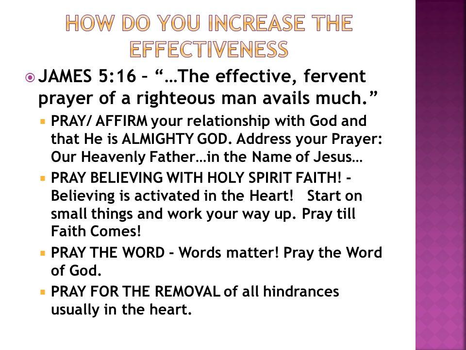 Effective Prayers in Jesus' Name