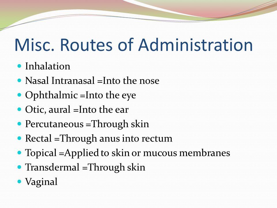 Anus drug administration