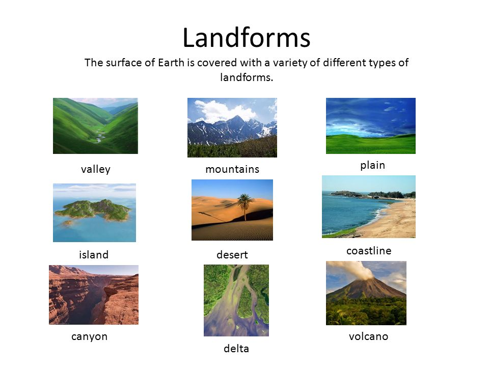 Major Landforms of the Earth - Apps on Google Play