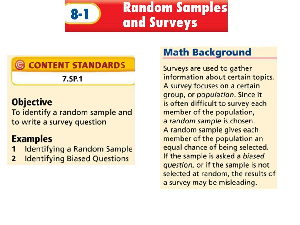Worksheets on Understanding Random Sampling