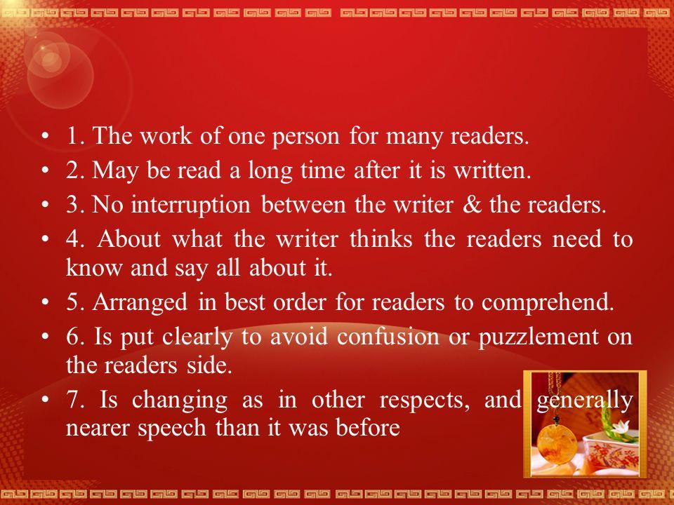 The differences between spoken and written English Spoken Written 1.