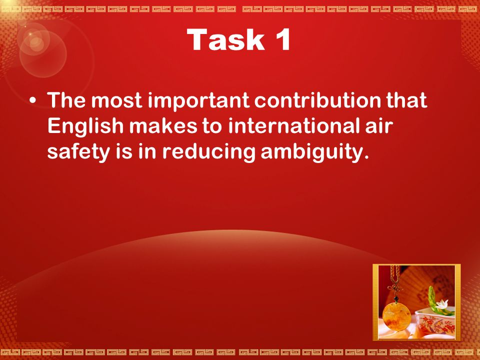 Activity 2 Uses of English in International Transport