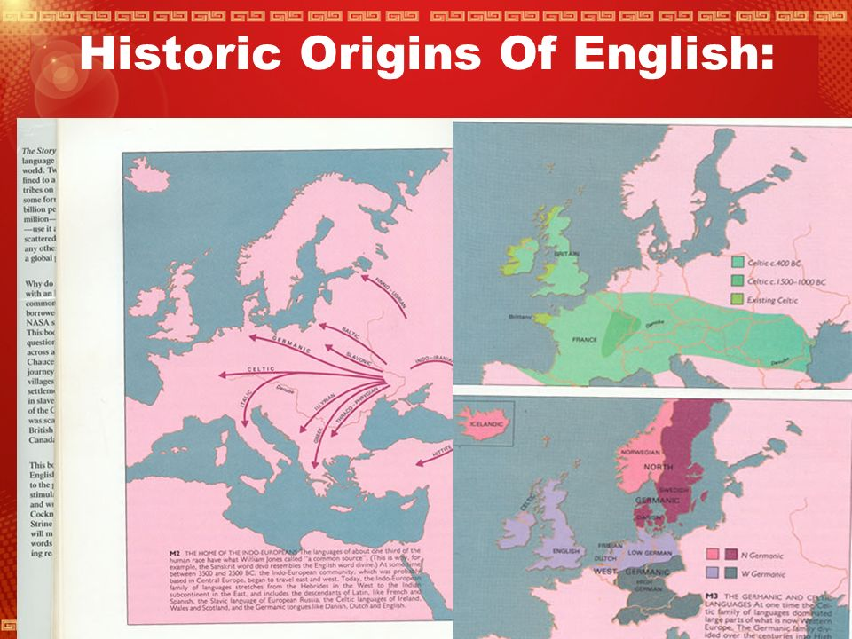 The English Language And Its History: How has history been responsible for the distribution and the change of the English language throughout the U.K..