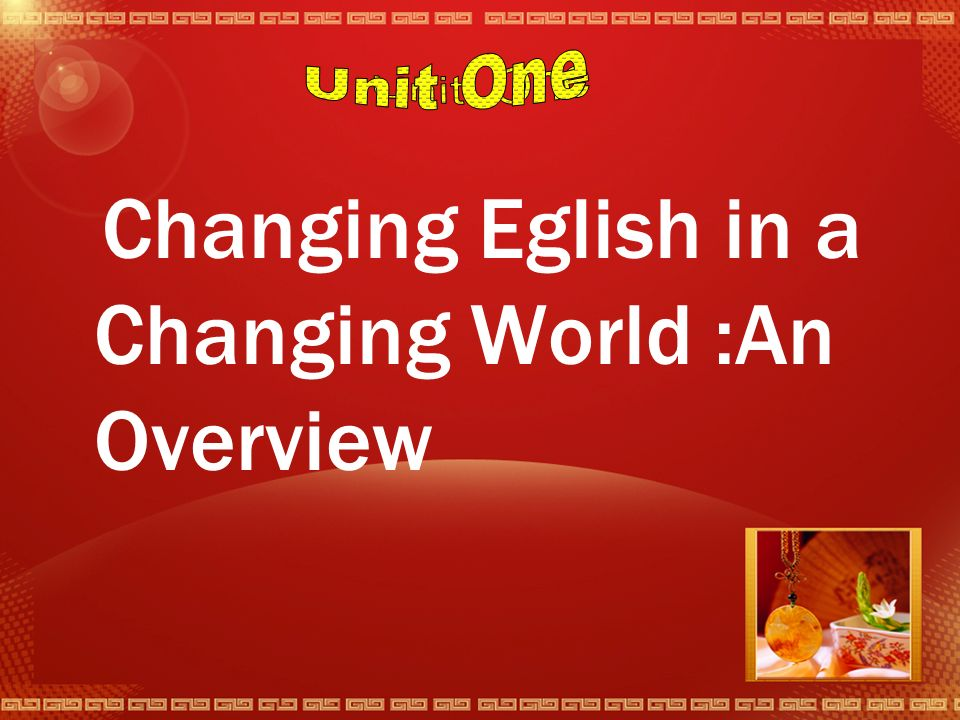 Contents 1 Changing English in a Changing World:An Overview 2 English in the Past 3 The Spread of English Beyond Britain 4 Socal varieties of English 5 Trade Within and Across Language Barriers 6 Changing English since the Sencond World War 7 Emerging New Englishes : A Focus for Debate 8 English in a Shrinking World
