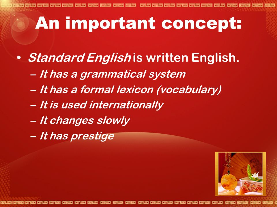 ' Standard English ' : Where did it start.
