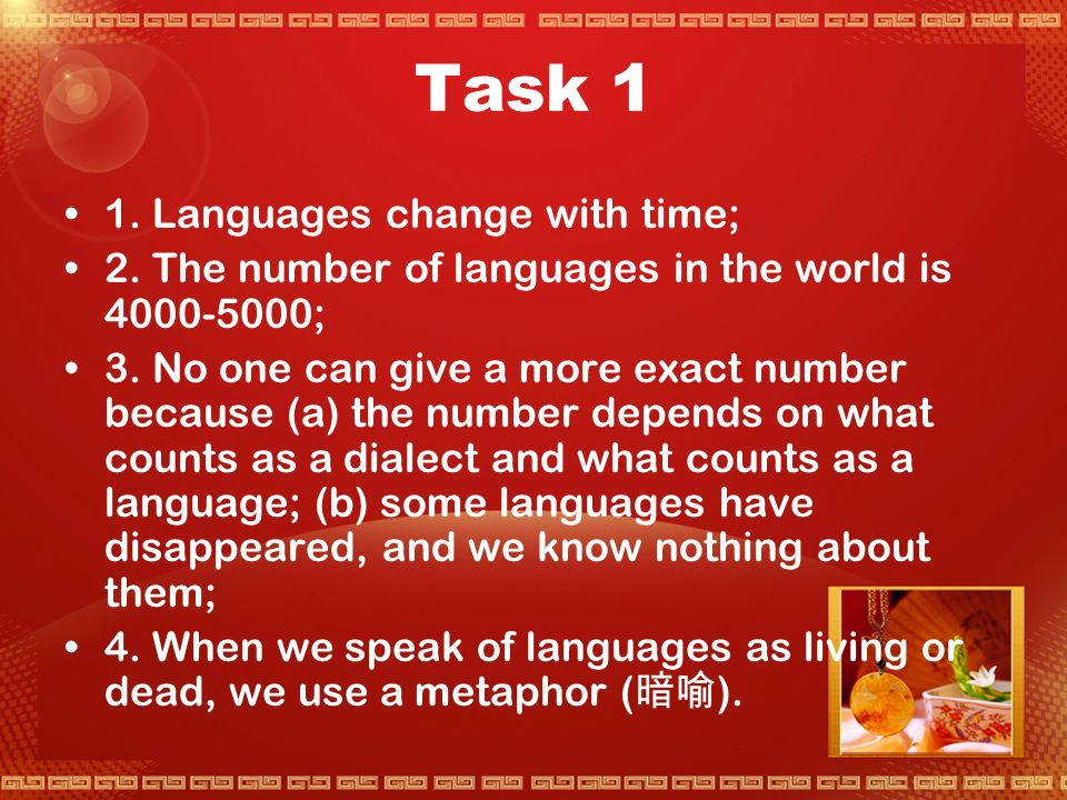 Activity 1 Language Change and Language Use