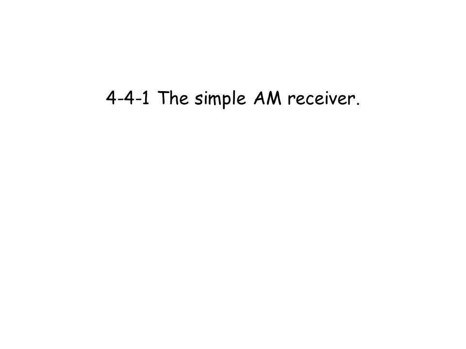 the simple am receiver learning objectives at the end of 1 4 4 1 the simple am receiver