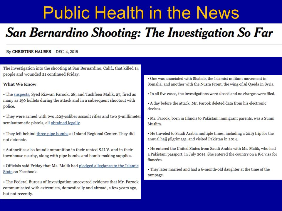 Public Health in the News