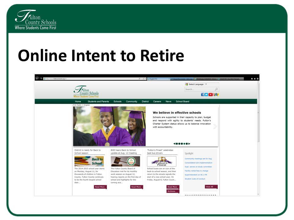 Online Intent to Retire