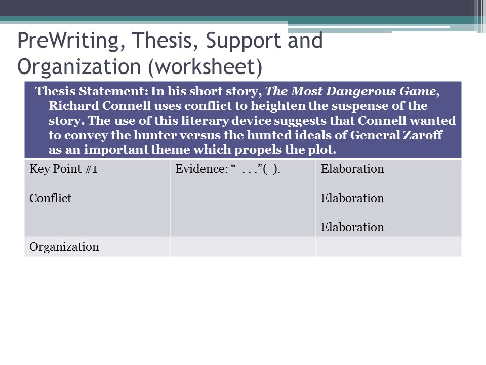 The Literary Analysis Essay Using The Most Dangerous Game by – The Most Dangerous Game Worksheets