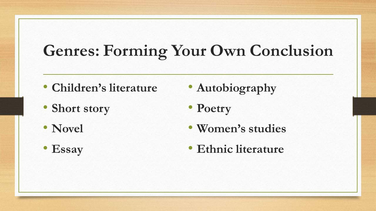 the house on mango street literary terms vocabulary ppt 3 genres forming your own conclusion children s literature short story novel essay autobiography poetry women s studies ethnic literature