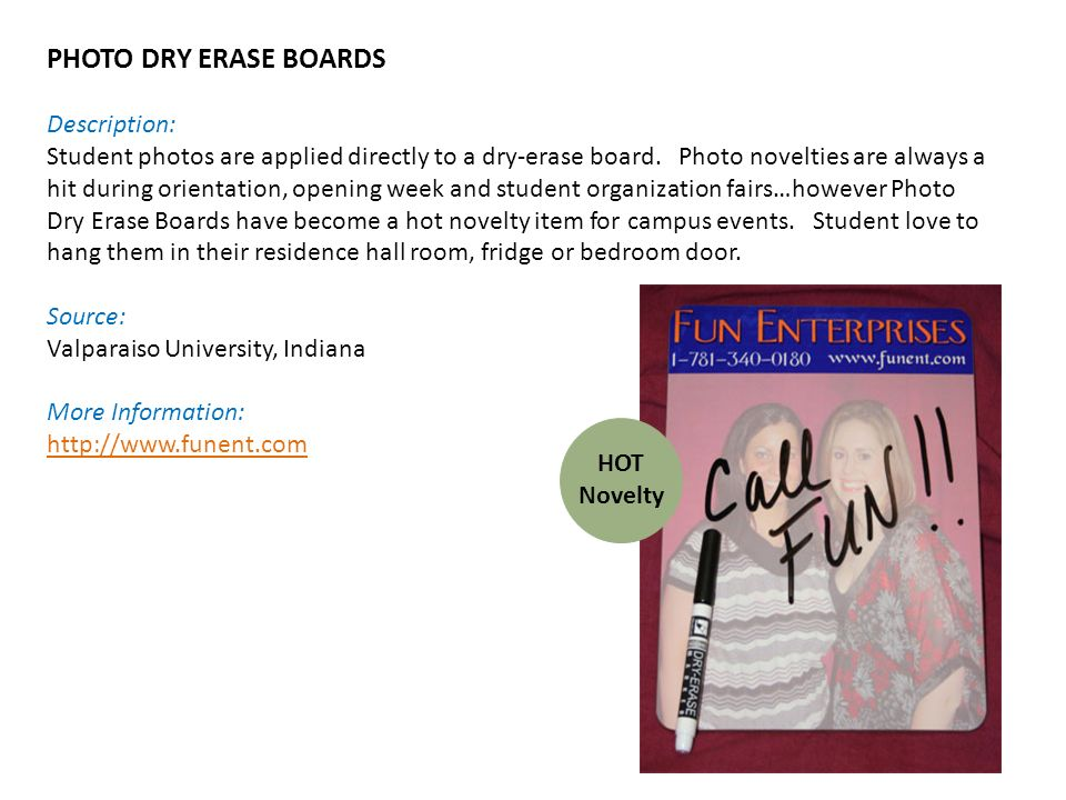 PHOTO DRY ERASE BOARDS Description: Student photos are applied directly to a dry-erase board.