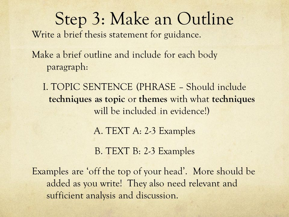 outline to make a thesis The ultimate guide to create a winning essay outline as provide an assertive conclusion to a proven thesis statement the outline of the conclusion.