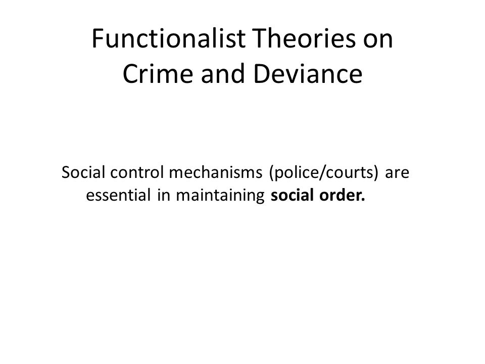deviance crime and social control