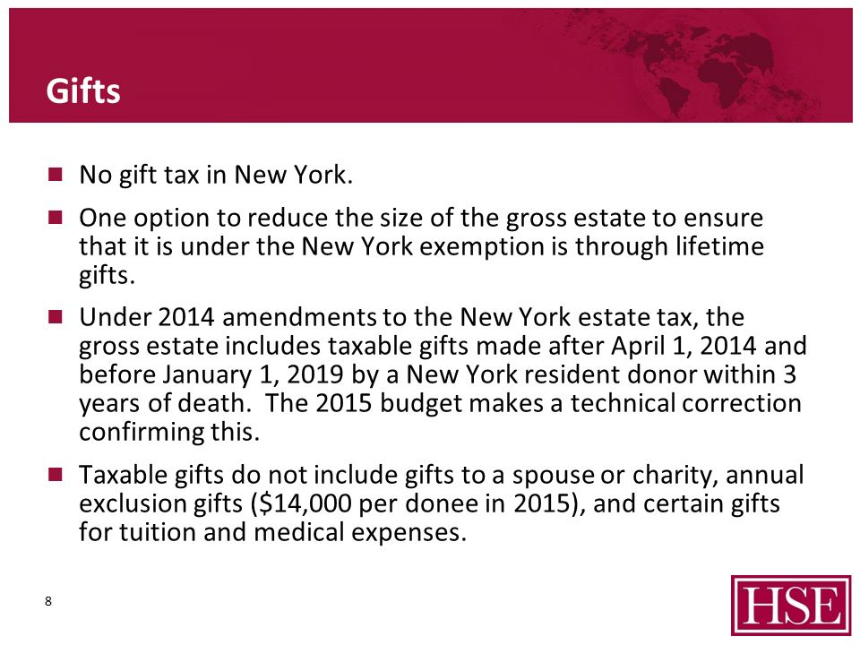 ESTATE PLANNING FOLLOWING NEW YORK STATE ESTATE TAX REFORM Martin ...