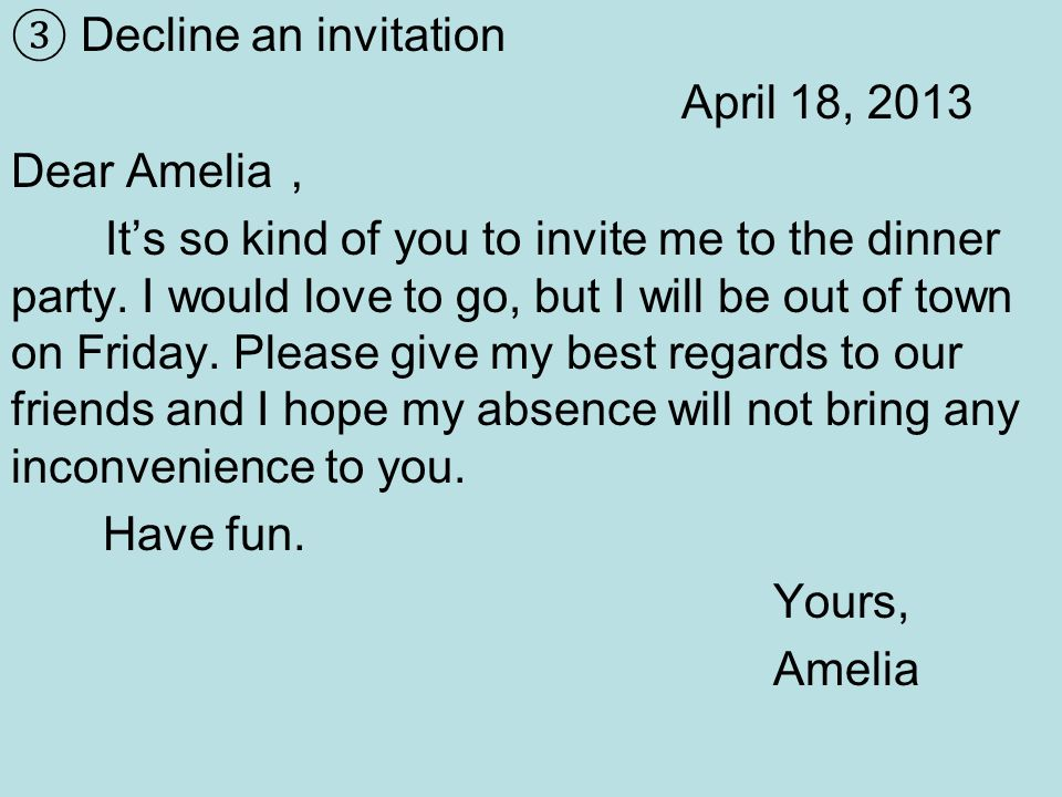 Note writing a what is a note notes are brief letters to make decline an invitation april 18 2013 dear amelia its so kind of you stopboris Images