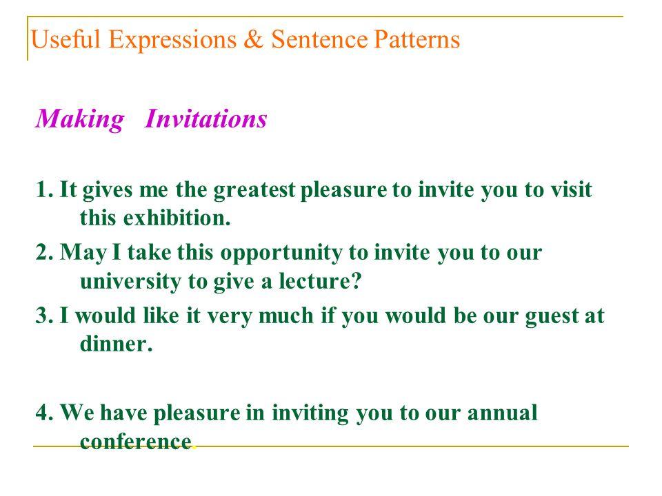 inviting you for pleasure