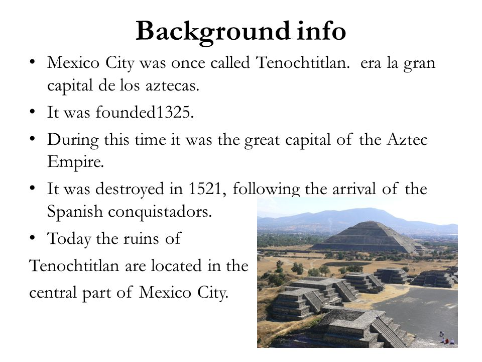 the background information of the mexico city Mexonlinecom general country reference and directory, information resources and general travel guides mexonlinecom referencias y directorios generales de mexico.