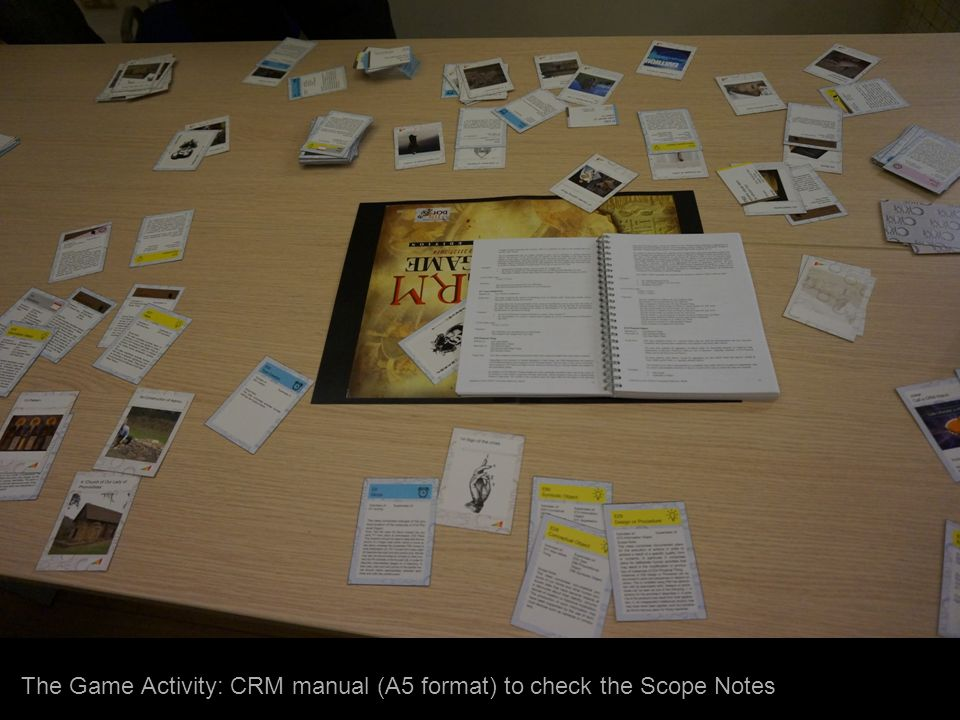 The Game Activity: CRM manual (A5 format) to check the Scope Notes
